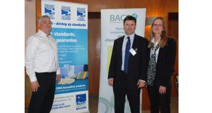 left to right: Jeff Snee, CHSA Council member and Peter Woodhead and Martina Williams of BACS